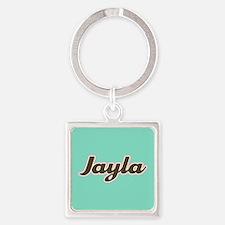 Jayla Aqua Square Keychain