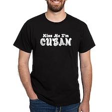 Kiss Me I'm Cuban Black T-Shirt