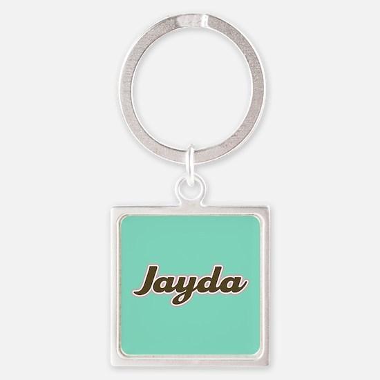 Jayda Aqua Square Keychain