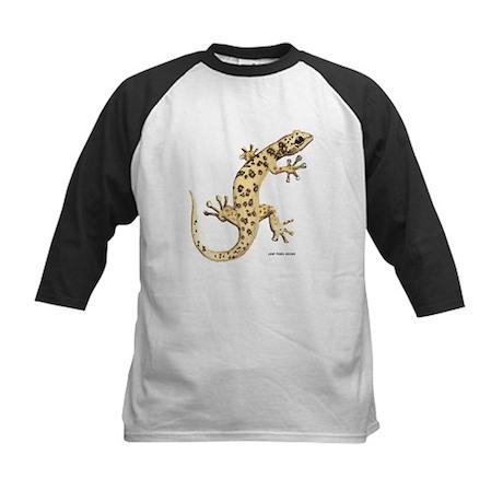 Leaf-Toed Gecko Lizard Kids Baseball Jersey