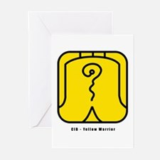 Yellow Warrior Greeting Cards (Pk of 10)