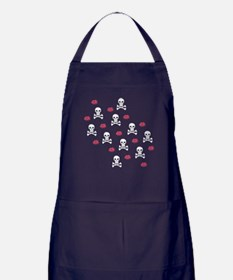 Skulls And Kisses Apron (dark)