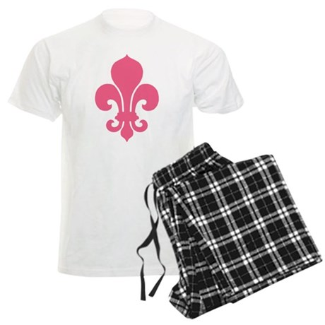 Pink Fleur De Lis Men's Light Pajamas