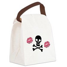 Skulls And Kisses Canvas Lunch Bag