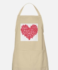 Pink Red Skull Heart Apron
