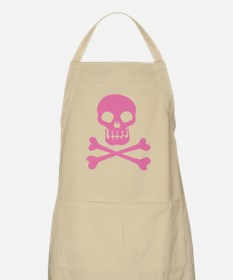 Skull And Crossbones Pink Apron