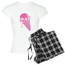 Evil Ice Cream Cone Pink Pajamas