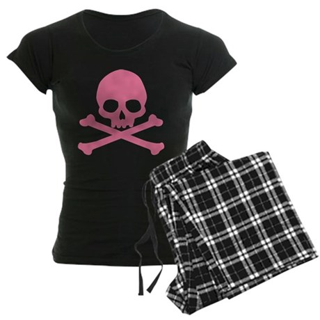 Pink Skull And Crossbones Women's Dark Pajamas