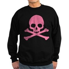Pink Skull And Crossbones Sweatshirt