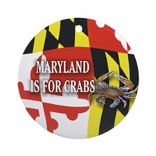 MARYLAND BLUE CRAB Ornament (Round)