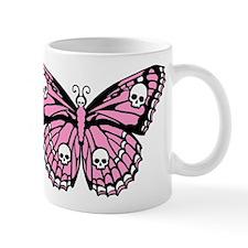 Pink Skull Butterfly Mug