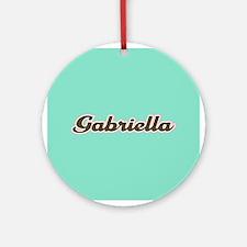 Gabriella Aqua Ornament (Round)