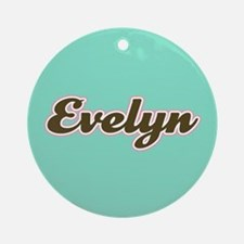 Evelyn Aqua Ornament (Round)