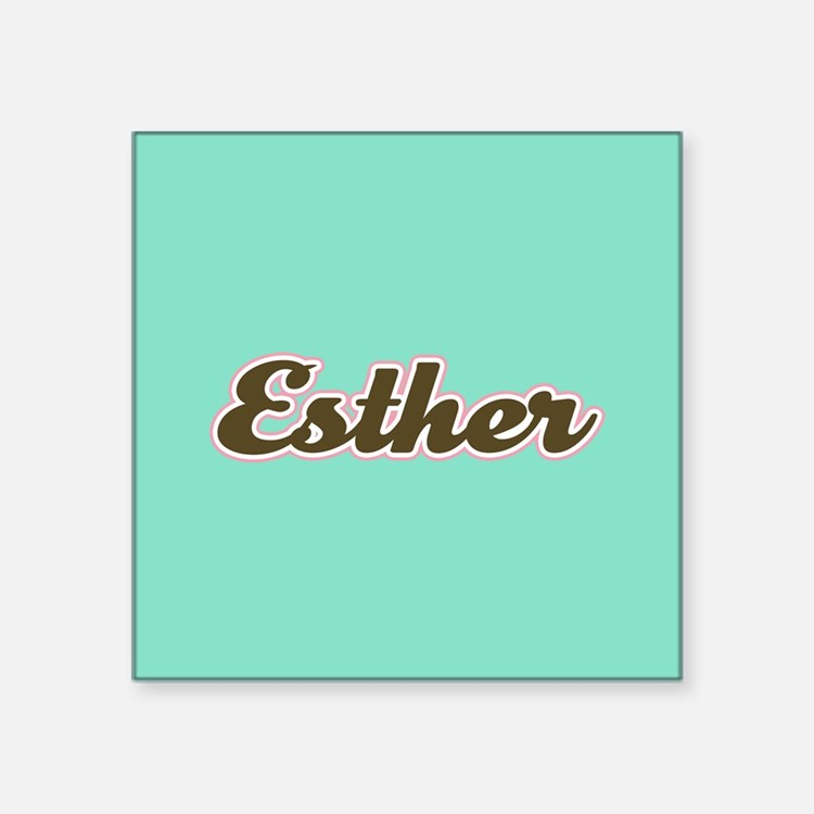 Esther Aqua Sticker