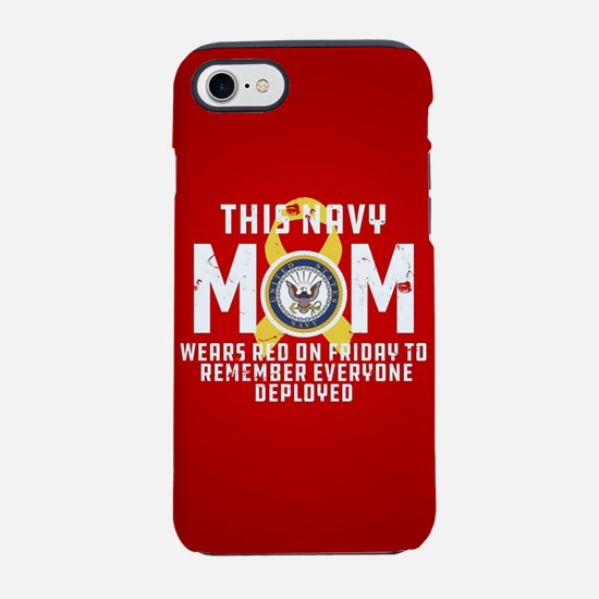 Navy Mom Wears RED iPhone 7 Tough Case