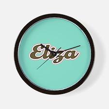Eliza Aqua Wall Clock