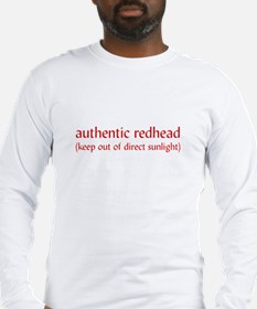 Authentic Redhead Long Sleeve T-Shirt