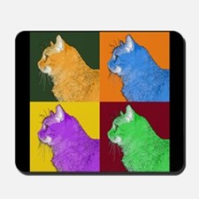 Warhol-esque Cat Mousepad