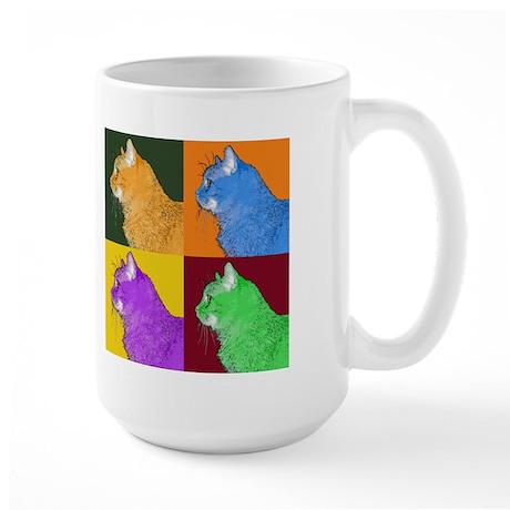 Warhol-esque Cat Large Mug