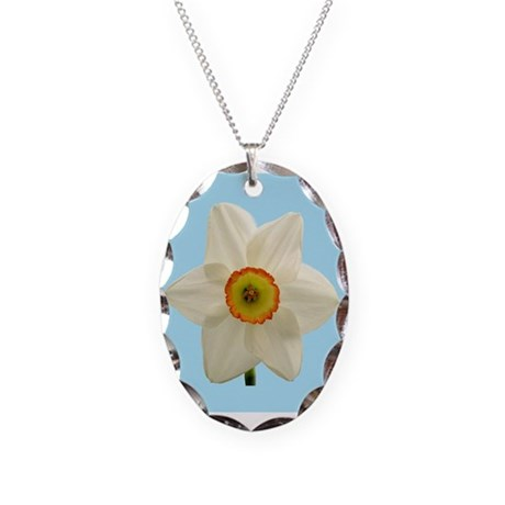 Daffodil on Blue Necklace