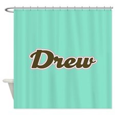 Drew Aqua Shower Curtain