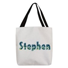 TAN BLUE FOOTBALL Canvas Lunch Tote