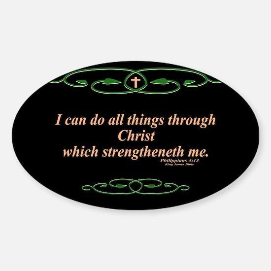 Philippians 4 13 Cross Decal