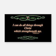 Philippians 4 13 Cross Rectangle Car Magnet