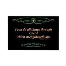 Philippians 4 13 Cross Rectangle Magnet