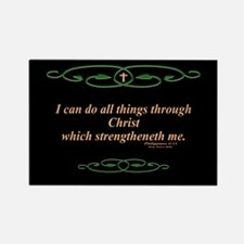 Philippians 4 13 Cross Rectangle Magnet