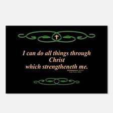 Philippians 4 13 Cross Postcards (Package of 8)