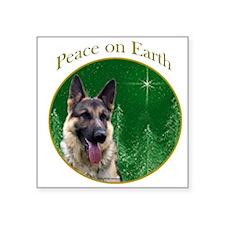GSD Peace Rectangle Sticker