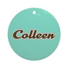 Colleen Aqua Ornament (Round)