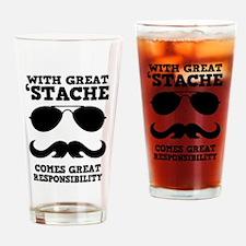 Great Mustache Drinking Glass