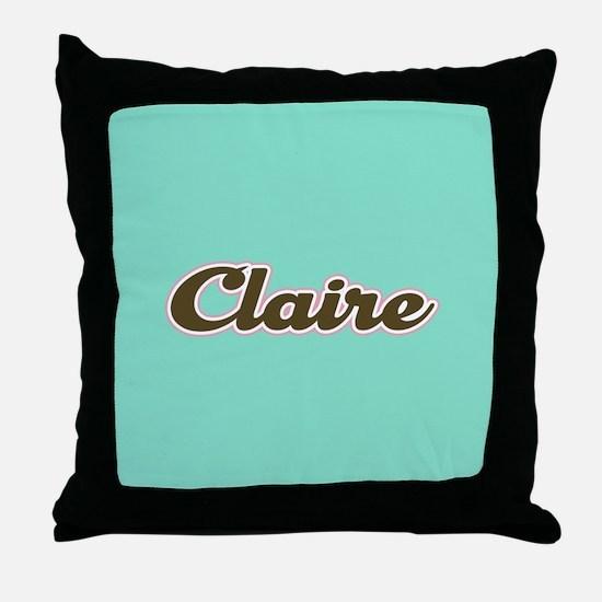 Claire Aqua Throw Pillow