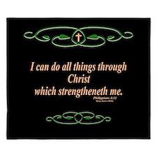 Philippians 4 13 Cross King Duvet