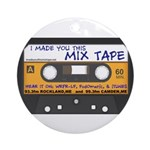 WRFR's I Made You This Mix Tape Ornament (Round)
