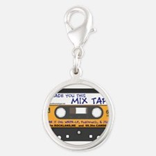 WRFR's I Made You This Mix Tape Silver Round Charm