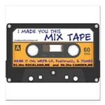 WRFR's I Made You This Mix Tape Square Car Magnet