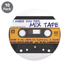 """WRFR's I Made You This Mix Tape 3.5"""" Button (10 pa"""