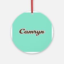 Camryn Aqua Ornament (Round)