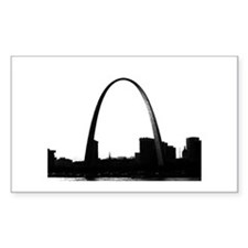 Gateway Arch - Eero Saarinen Sticker Rectangular