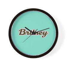 Britney Aqua Wall Clock