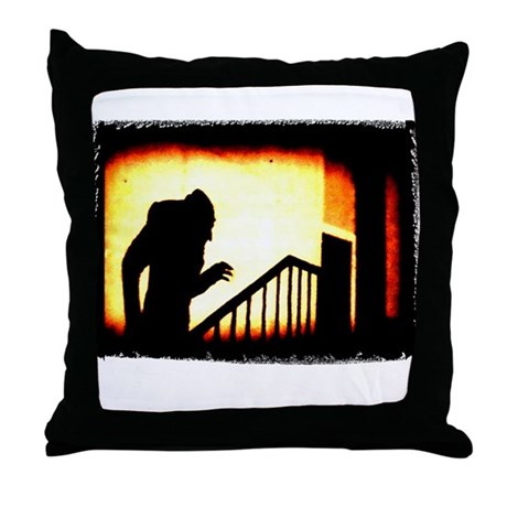 Nosferatu Creepy Throw Pillow