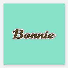 """Bonnie Aqua Square Car Magnet 3"""" x 3"""""""