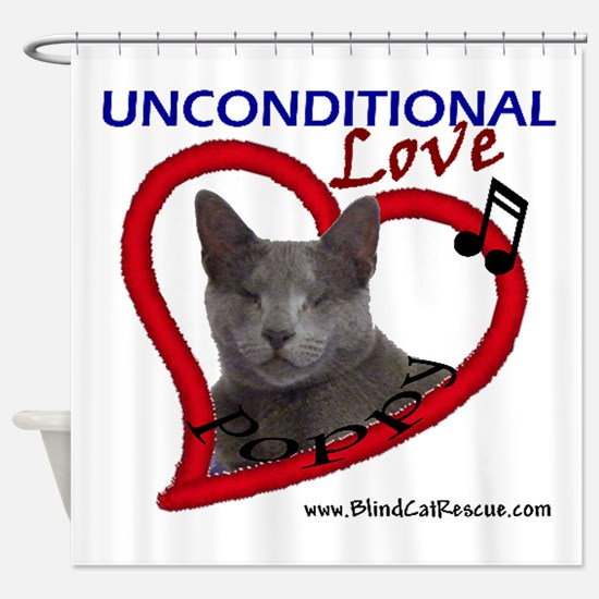 Poppy Unconditional Love Shower Curtain