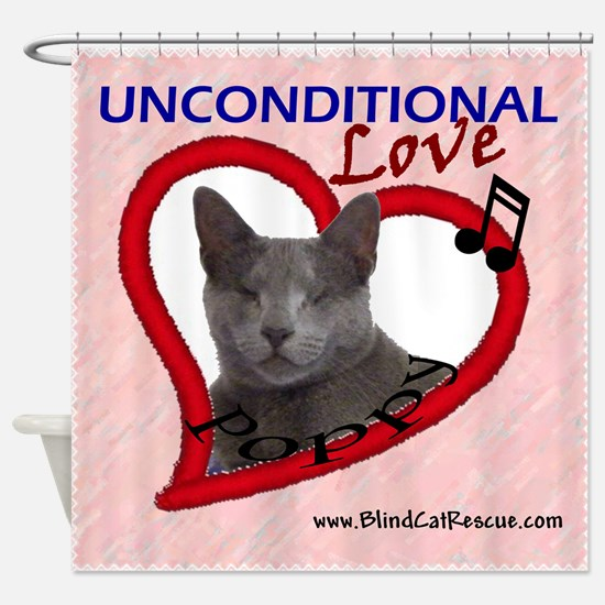 Poppy Unconditional Love in Pink Shower Curtain