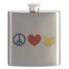 Peace Love Beer Flask
