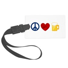 Peace Love Beer Luggage Tag
