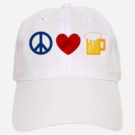 Peace Love Beer Baseball Baseball Baseball Cap